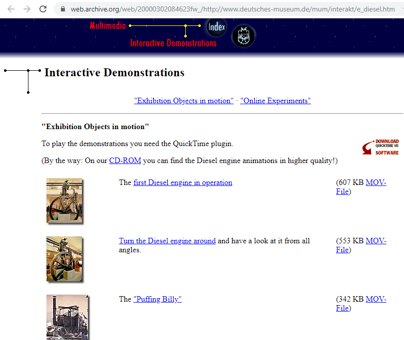 Fragment of the Screenshot of the Interactive Demonstrations on 2 March 2000