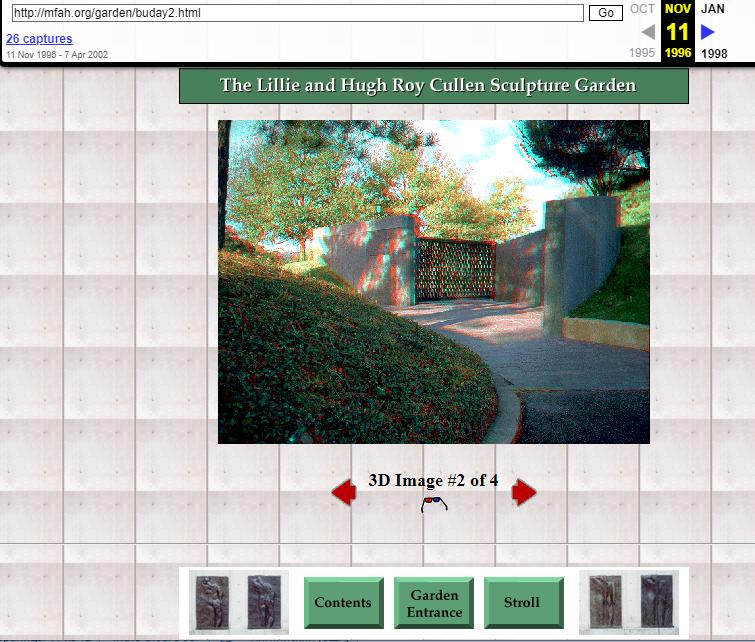 Museum of Fine Arts (Houston, USA). WayBack Machine. Snapshot on 11 November 1996