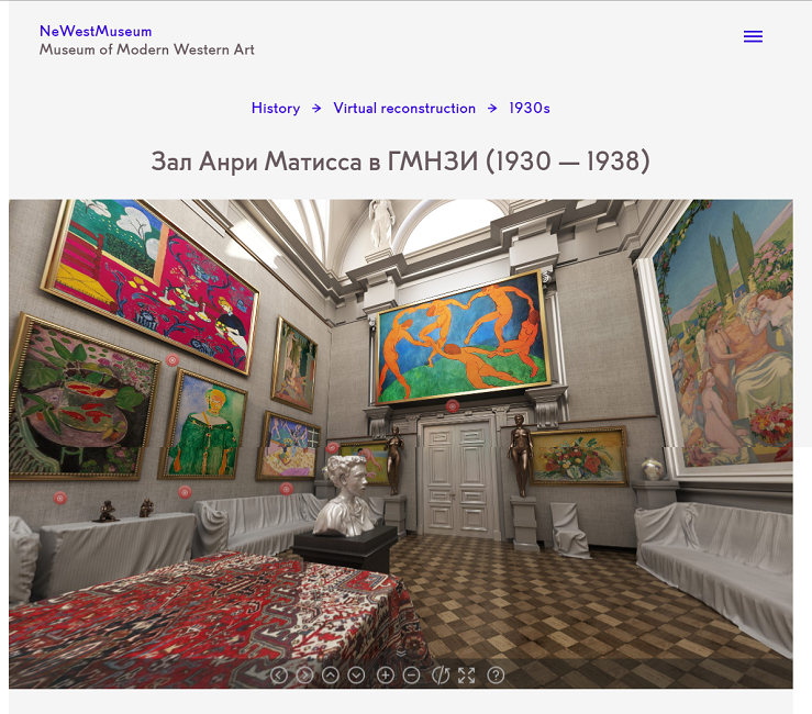 Screenshot of the VR-reconstruction on the Museum of Modern Western Art on 15 November 2019