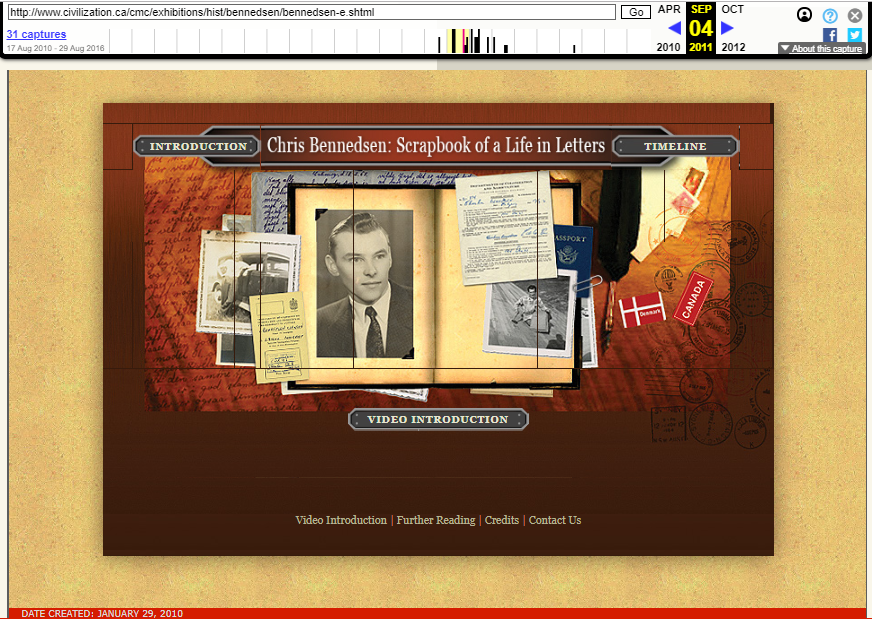 Snapshot of The Online Exhibition Sample on 4 September 2011
