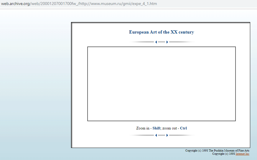 Screenshot of the Panoramic Photo Framework on 7 April 2000